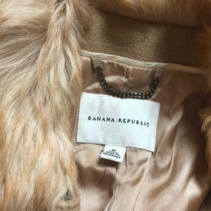 Banana Republic Beautiful Wool Shearling Coat